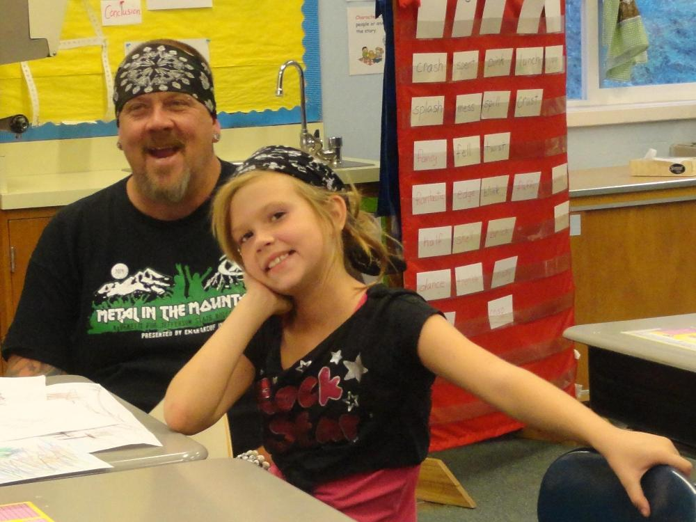 back to school night-abby powell & dad